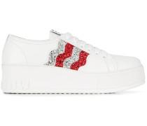 Plateau-Sneakers im Glitter-Look