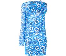 Einärmeliges Kleid mit Blumen-Print