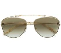 double nose bridge aviator sunglasses