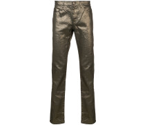 Jeans in Metallic-Optik