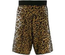 Jacquard-Shorts mit Leo-Print