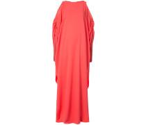 cold-shoulder tassel-embellished gown