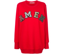 logo applique sweatshirt