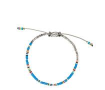 Armband mit flachen Perlen