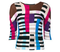 colour blocked knitted top