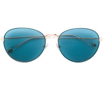 studded oval frame sunglasses