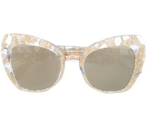 lace oversized cat-eye sunglasses