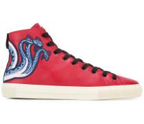 High-Top-Sneakers mit Print