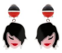 Ohrclips mit Frauenkopf