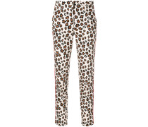 leopard print skinny trousers