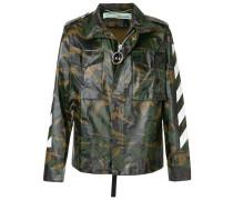 military arrows print jacket