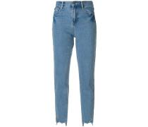 embellished hem cropped jeans