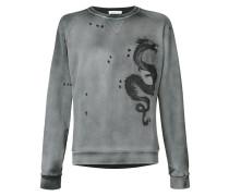 Sweatshirt mit Drachen-Stickerei