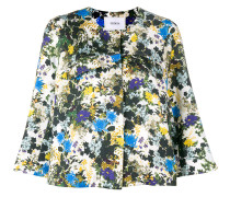 Cropped-Jacke mit Blumenmuster