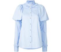 puff sleeve button shirt