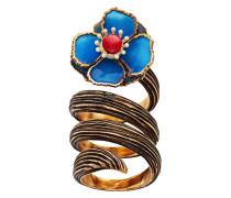 Spiralförmiger Ring mit Blumenmotiv