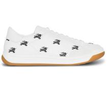 Sneakers mit Logo-Stickerei