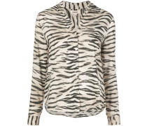 'Holly' Bluse mit Tiger-Print