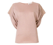 ruched glitter T-shirt