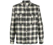 checked flap pocket shirt