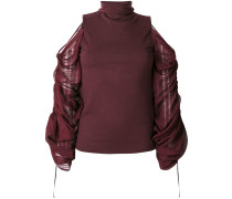 cold shoulders oversized sleeves top