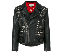 stud embellished leather jacket - Unavailable