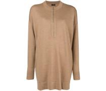 Oversized-Pullover mit Reißverschluss