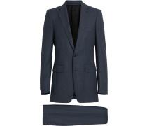 slim-fit wool suit