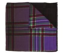 Karierter Schal mit Farbverlauf