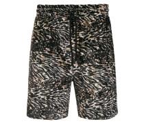 Shorts mit Animal-Print