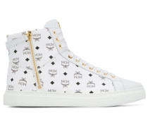 High-Top-Sneakers mit Logo-Print
