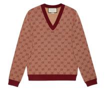 Jacquard-Pullover mit GG