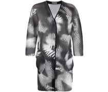 Mantel mit abstraktem Print