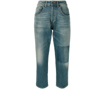 Cropped-Jeans mit Waschung