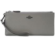Portemonnaie mit doppeltem Reißverschluss