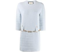 Tweed-Kleid mit Gürtel