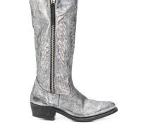 Metallic-Stiefel mit Reißverschluss
