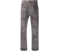 Gerade Jeans mit Bleached-Optik