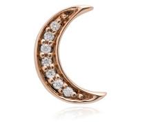 14kt 'Crescent Moon' Rotgoldohrring