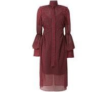 Kleid mit Hahnentrittmuster