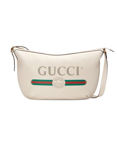 Gucci Herren Print half-moon hobo bag Billig Verkauf Sehr Billig Günstigsten Preis Online Outlet Beliebt E2A7vdndt