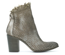 weave style ankle boots