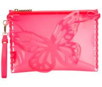Clutch mit Schmetterlings-Print