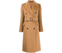 wide lapel double-breasted coat