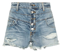 Jeans-Shorts in Distressed-Optik