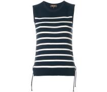 sleeveless striped knit top
