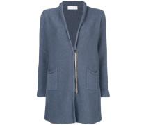 fitted zipped cardi-coat