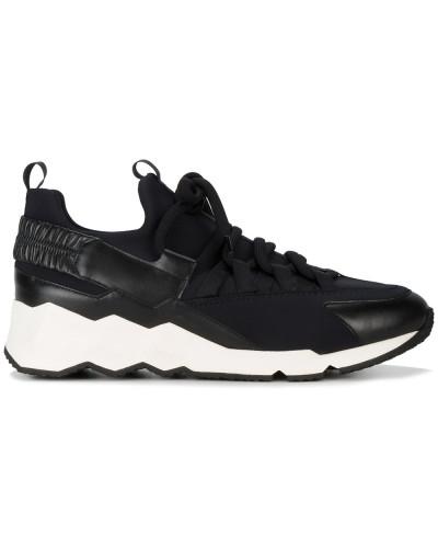 Sneakers aus Neopren und Kalbsleder