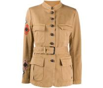 Bestickte Jacke im Military-Look