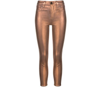 'Margot' Skinny-Jeans im Metallic-Look